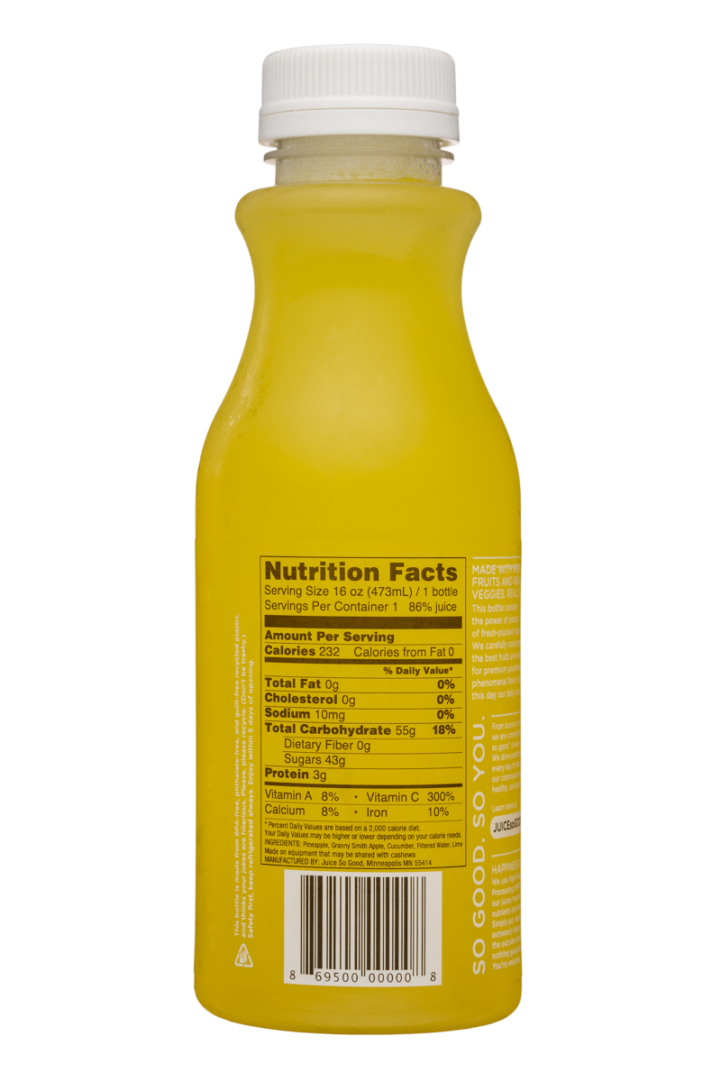 Juice So Good: JuiceSoGood-16oz-Radiance-Facts