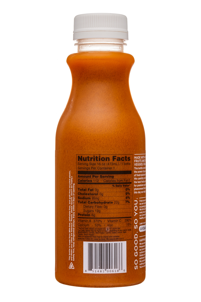 Juice So Good: JuiceSoGood-16oz-GardenParty-Facts