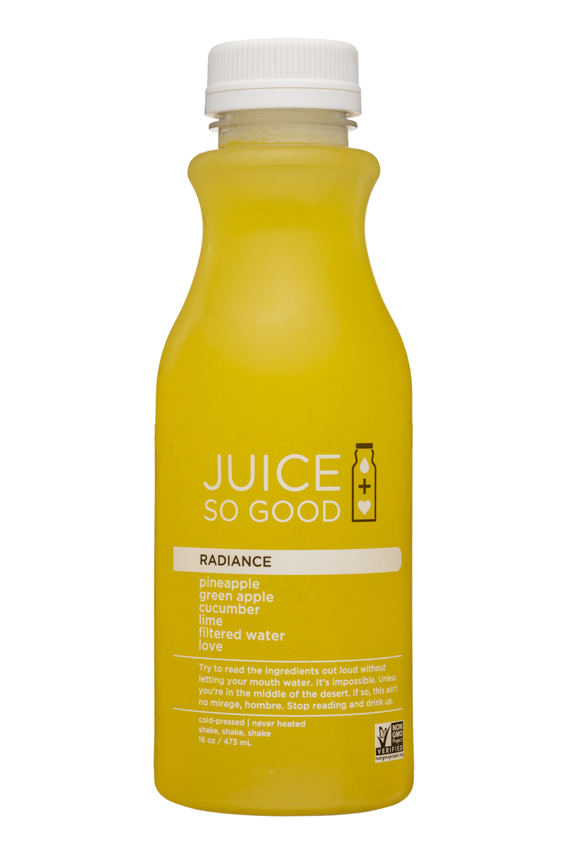 Juice So Good: JuiceSoGood-16oz-Radiance-Front