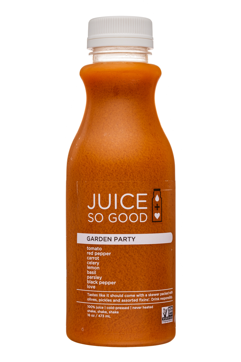 Juice So Good: JuiceSoGood-16oz-GardenParty-Front