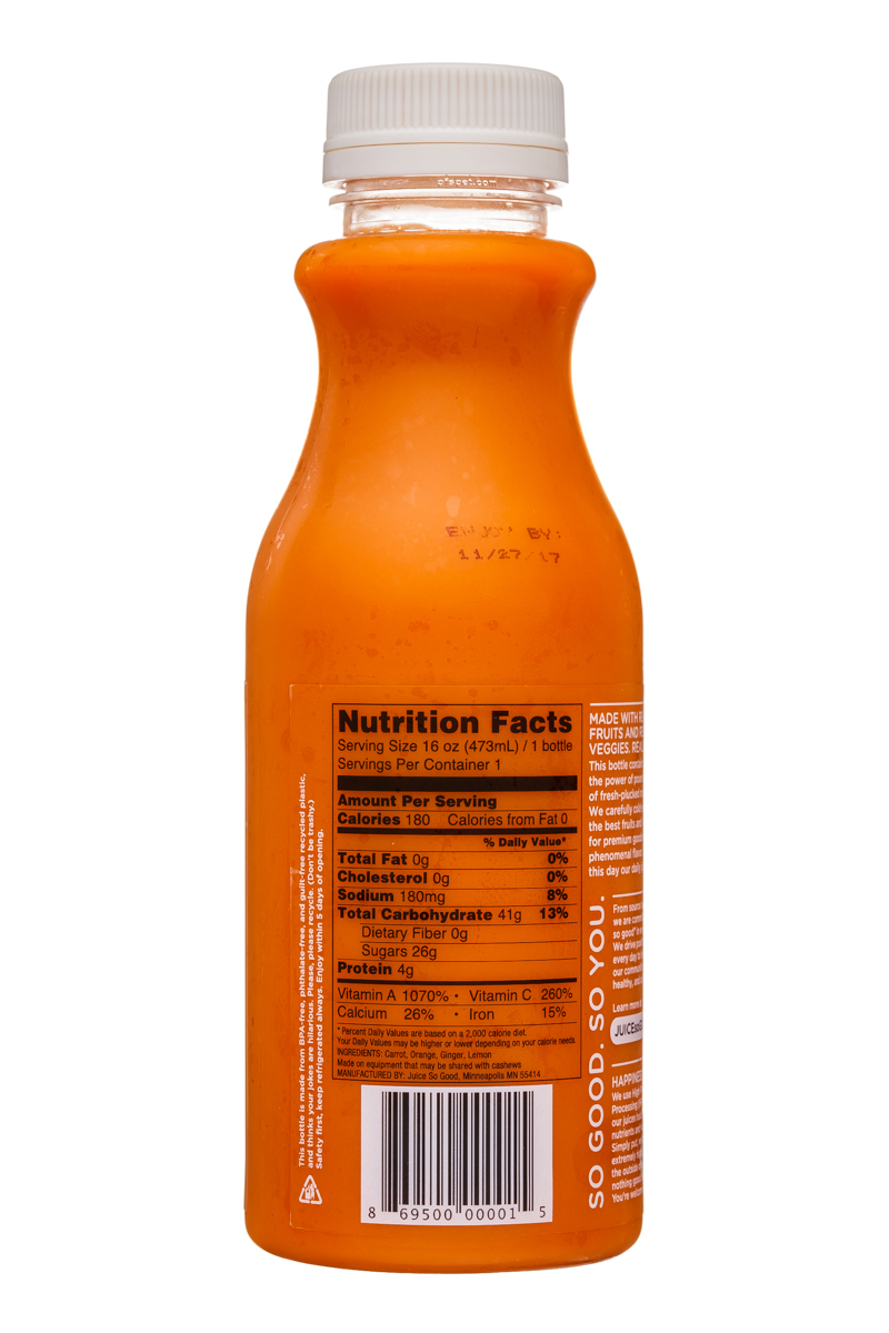 So Good So You: JuiceSoGood-16oz-TheGinger-Facts