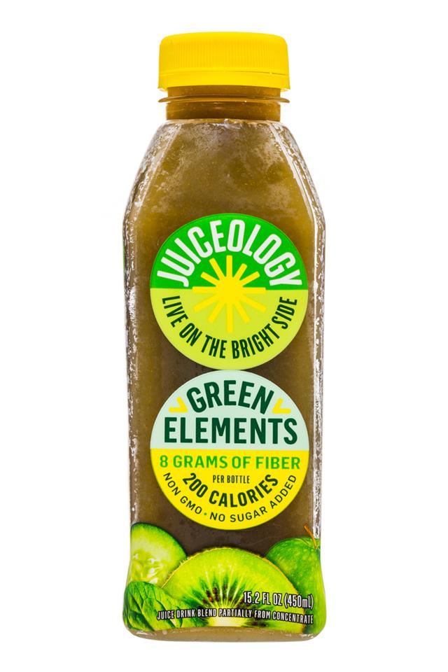 Juiceology: Juiceology-15oz-GreenElements-Front