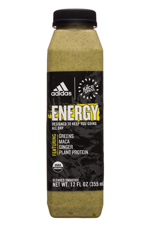 Juice Press: JuicePress-12oz-Adidas-Smoothie-Energy-Front