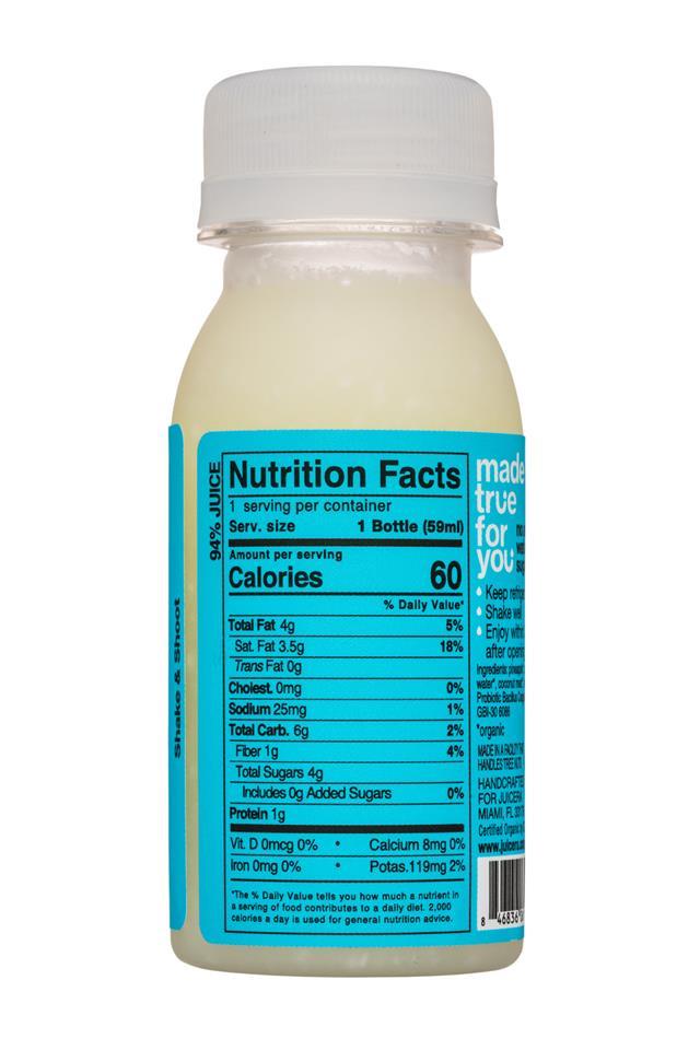 Juicera: Juicera-2oz-CPWellnessShot-OGProbioticDigestive-Facts