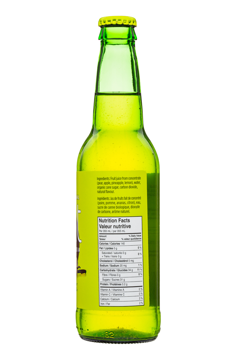 JUST Craft Soda: Just-CraftSoda-355ml-PearVanilla-Facts