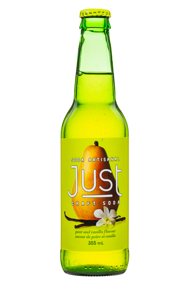 JUST Craft Soda: Just-CraftSoda-355ml-PearVanilla-Front
