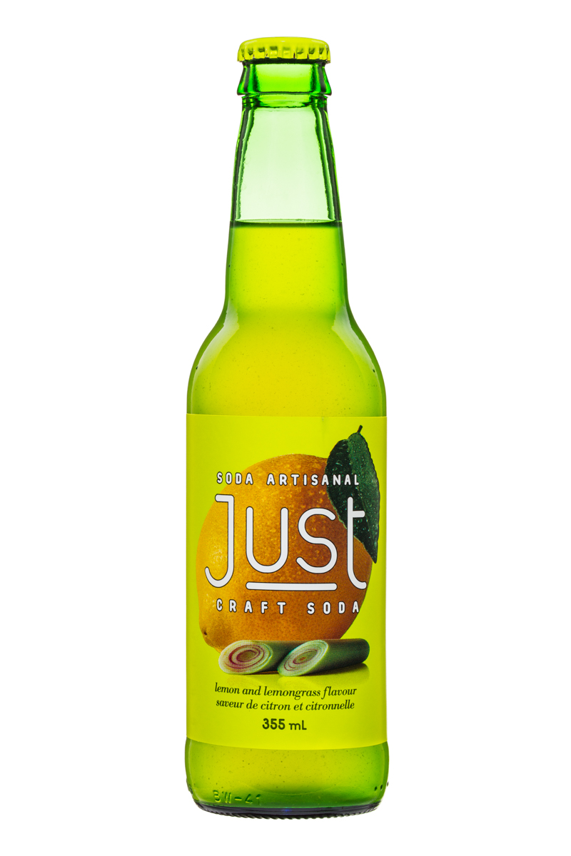 JUST Craft Soda: Just-CraftSoda-355ml-LemonLemongrass-Front