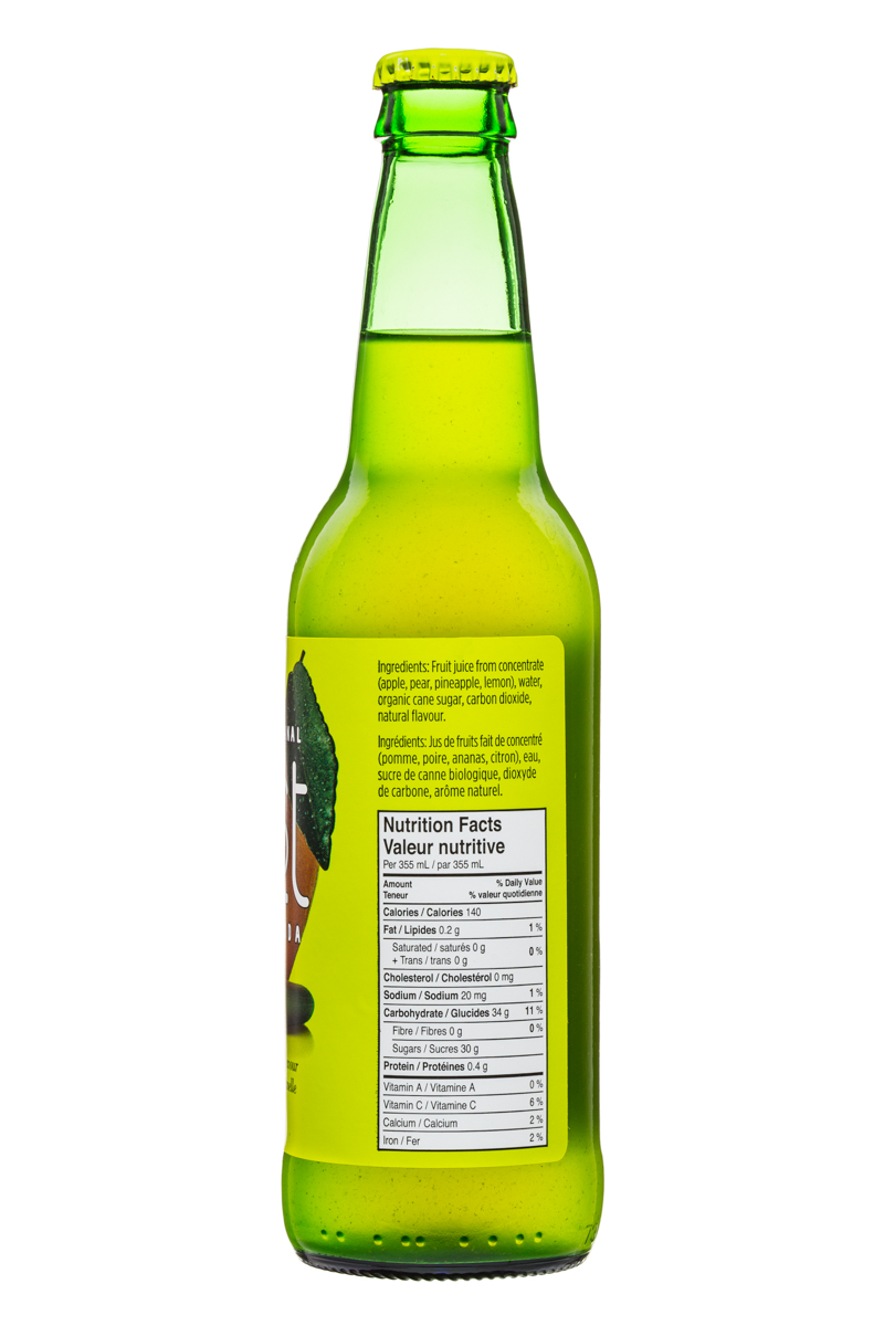 JUST Craft Soda: Just-CraftSoda-355ml-LemonLemongrass-Facts
