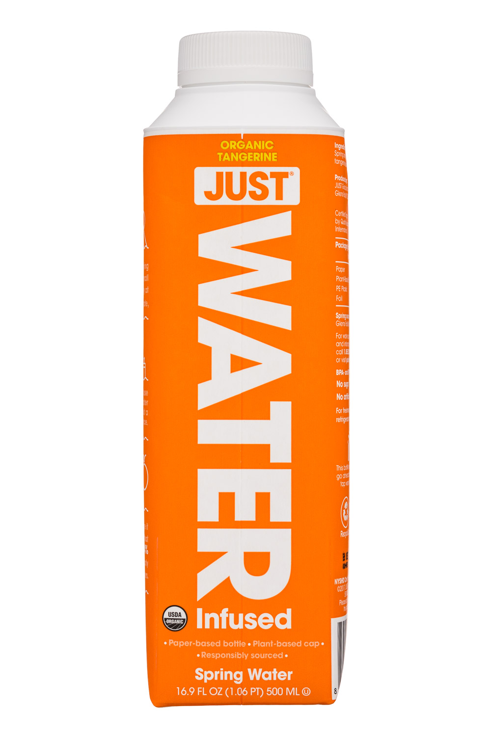 Just Water: JustWater-17oz-Tangerine-Front