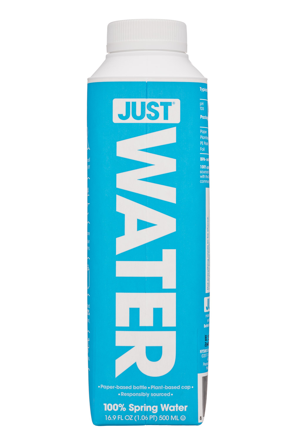 Just Water: JustWater-17oz-Front