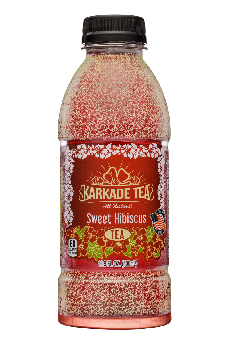 Karkade Tea: KarkadeTea-17oz-SweetHibiscus-Front