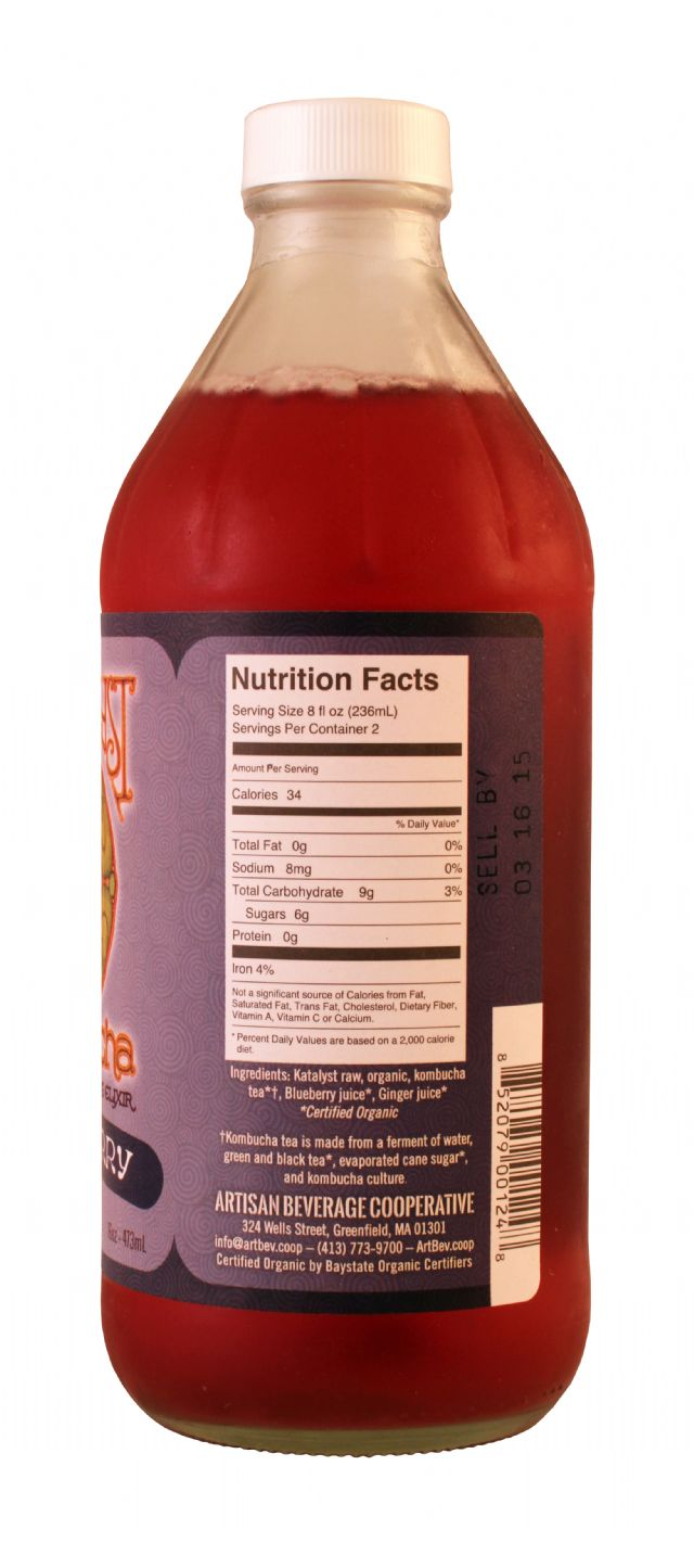Katalyst Kombucha: Katalyst BlissBerry Facts