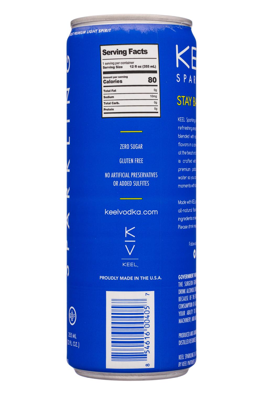 Keel: KeelSparkling-12oz-VodkaSoda-LemonLime-Facts
