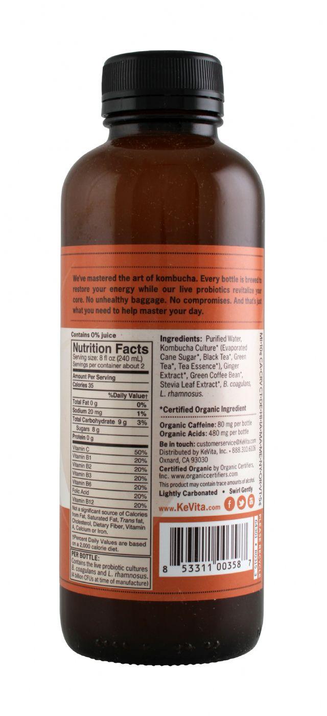 KeVita Master Brew Kombucha: Kevita Ginger Facts