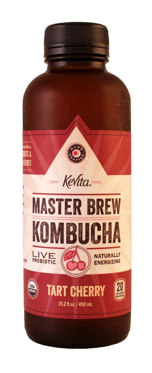 KeVita Master Brew Kombucha: Kevita TartCherry Front