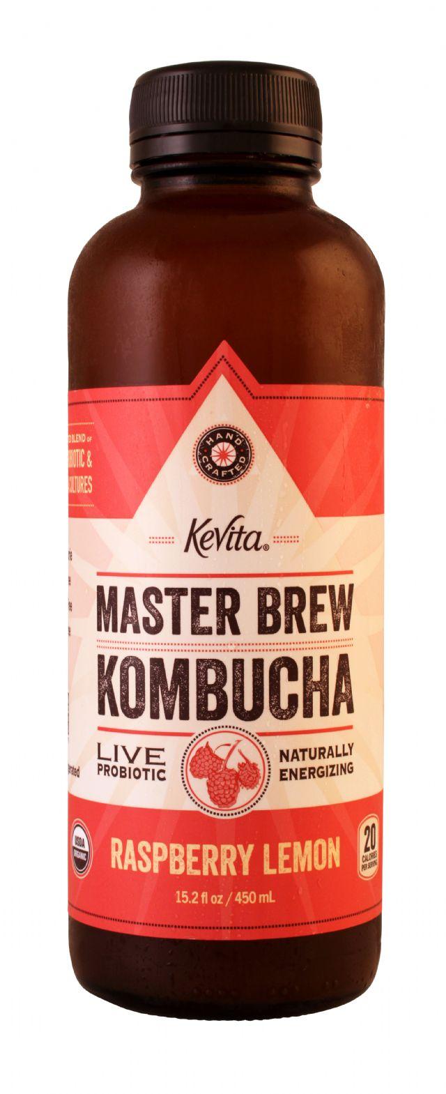 KeVita Master Brew Kombucha: Kevita RaspberryLem Front