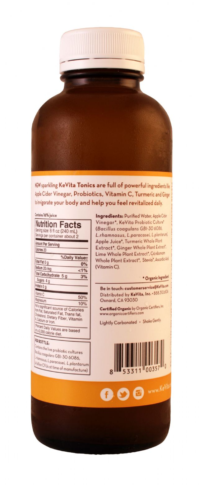 KeVita Tonics: KevitaTonics TumericGinger Facts