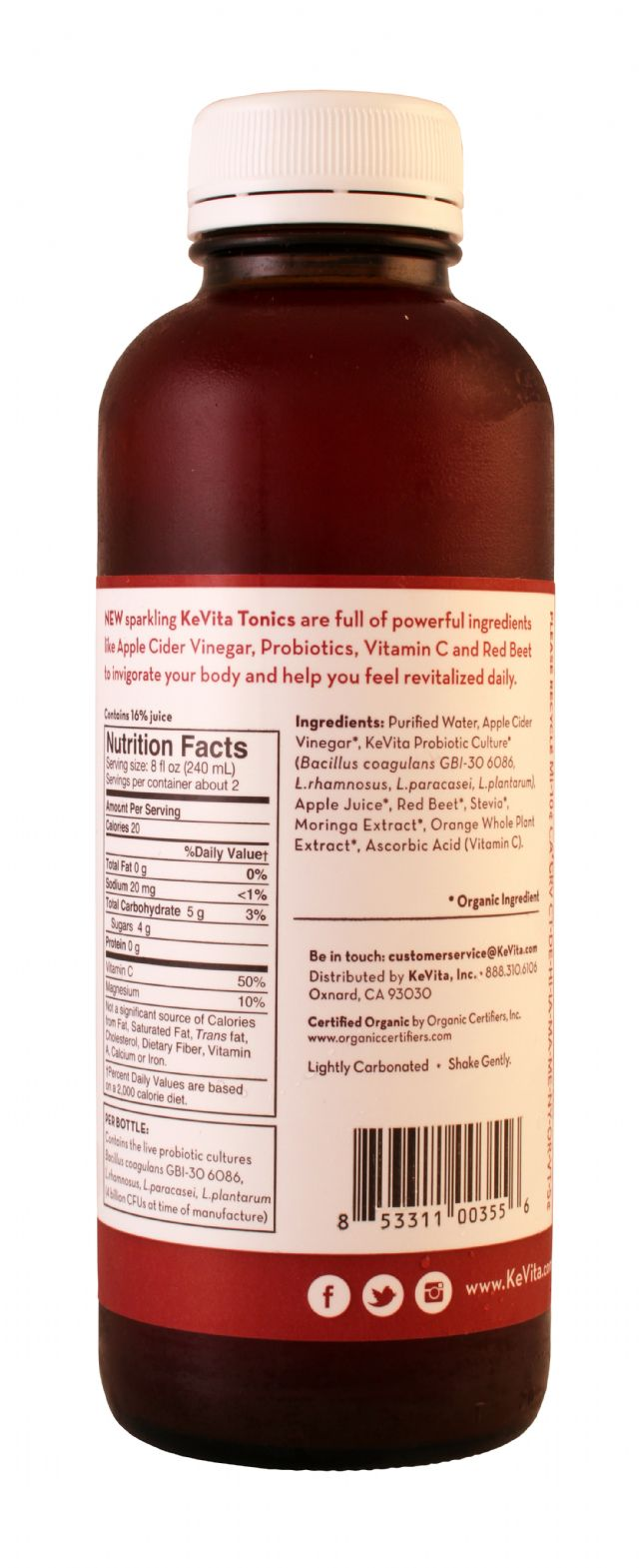 KeVita Tonics: KevitaTonics RedBeet Facts