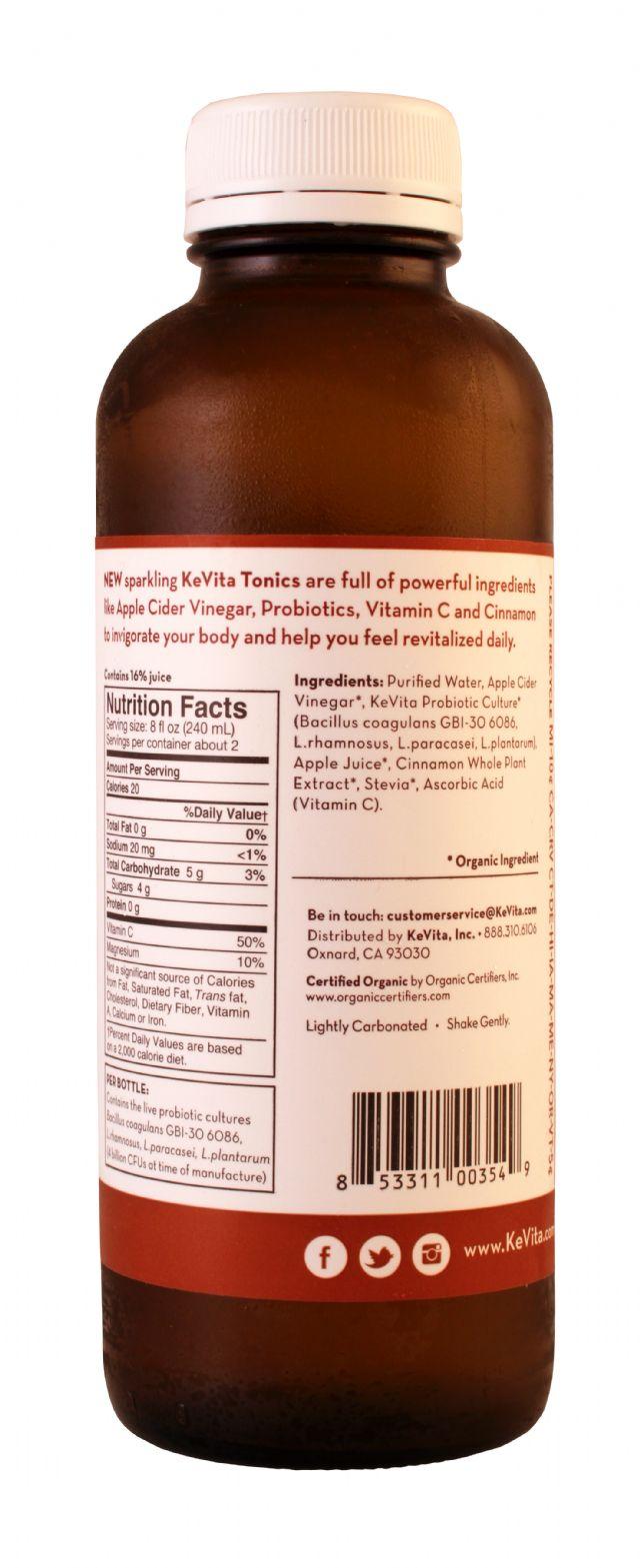 KeVita Tonics: KevitaTonics Cinn Facts