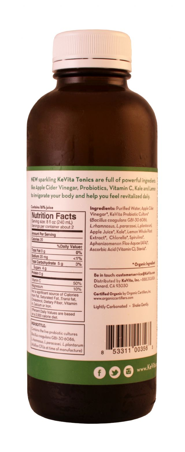 KeVita: KeVita KaleLemon Facts