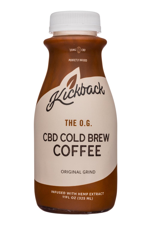 Kickback Cold Brew: Kickback-11oz-CBD-ColdBrew-Coffee-OG-Front