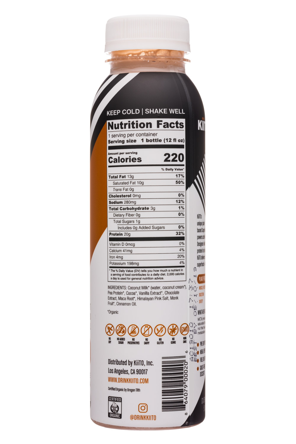 KiiTO: Kiito-12oz-SuperFuel-ChocMaca-Facts