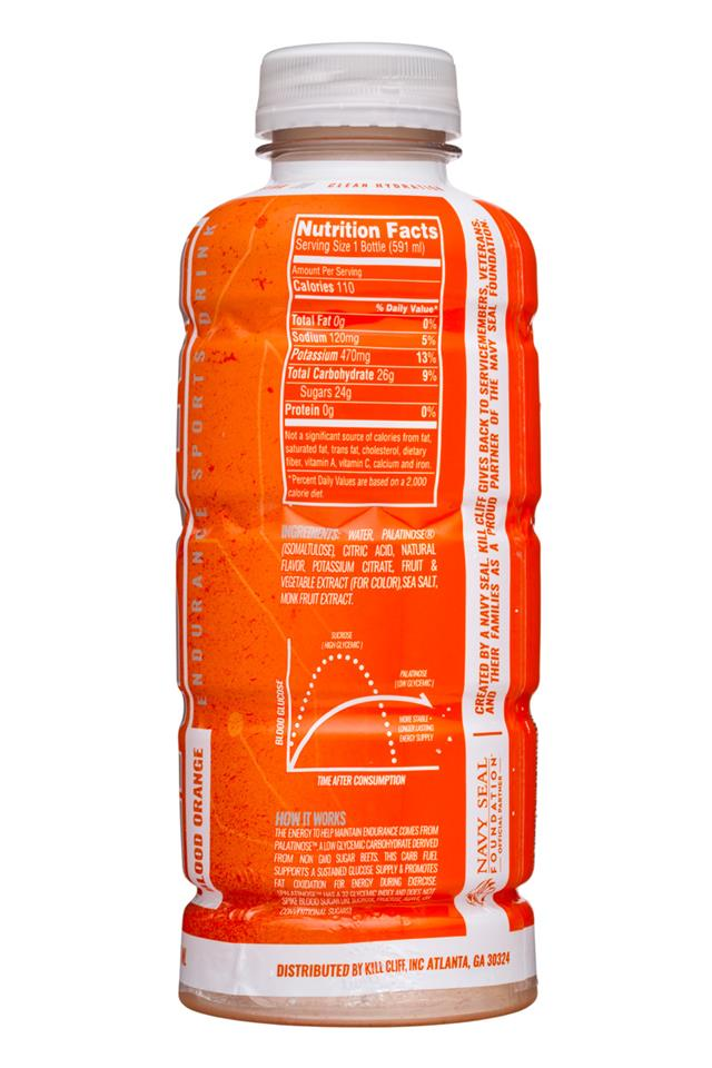 Kill Cliff: KillCliff-20oz-Endure-BloodOrange-Facts
