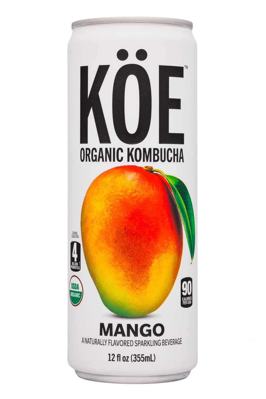KOE  Organic Kombucha: Koe-12oz-Kombucha-Mango-Front