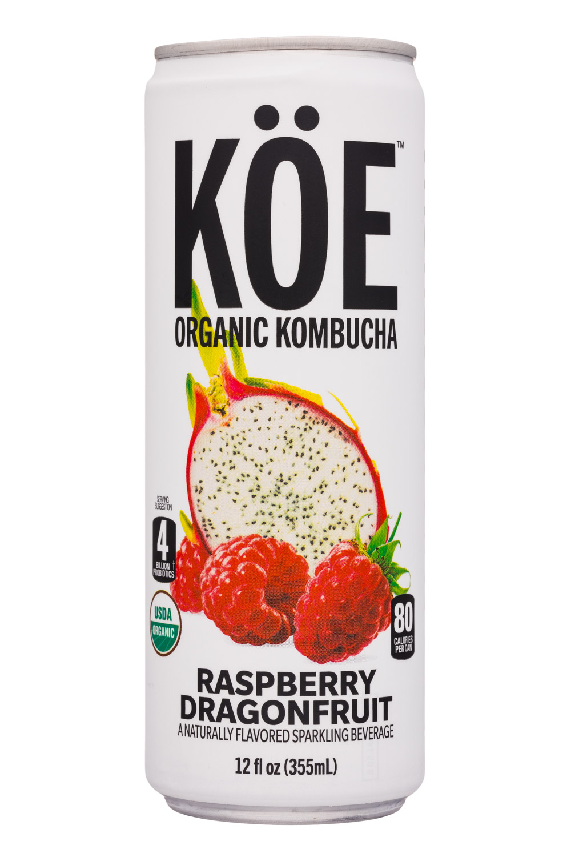 KOE  Organic Kombucha: Koe-12oz-Kombucha-RaspDragon-Front
