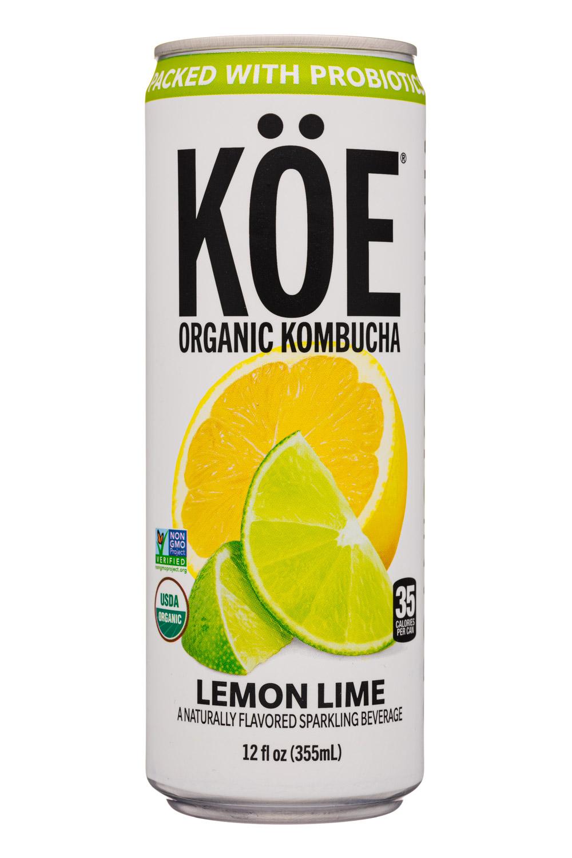 KOE  Organic Kombucha: Koe-12oz-2020-Kombucha-LemonLime-Front