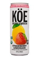 KOE  Organic Kombucha: Koe-12oz-2020-Kombucha-StrawbLemonade-Front