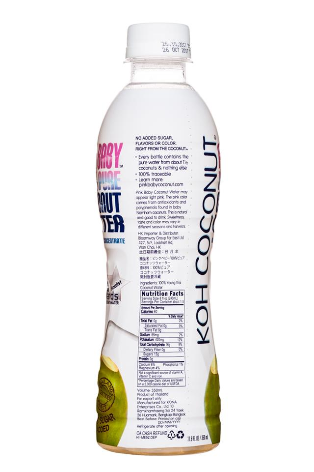 Koh Coconut: KohCoconut-12oz-PinkBaby-Facts