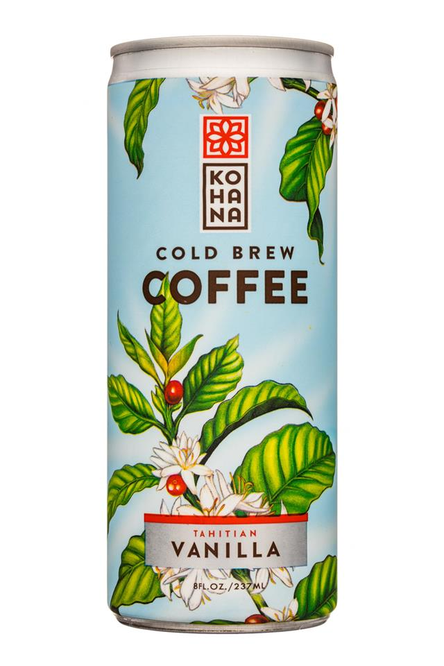 Kohana Coffee: Kohana-8oz-ColdBrewCoffee-TahitianVanilla-Front