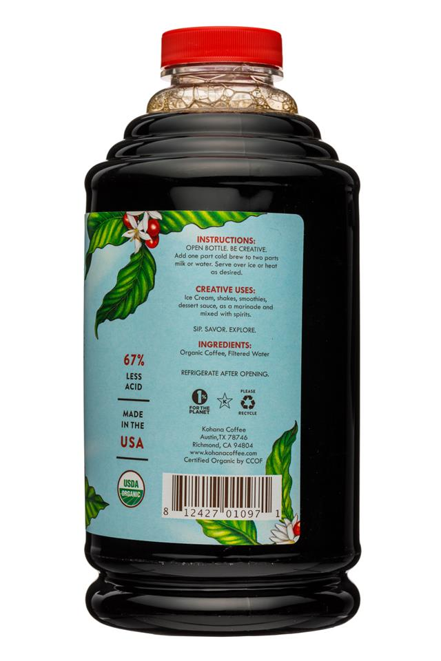 Kohana Coffee: Kohana-32oz-ColdBrewCoffee-OG-Concentrate-FrenchRoast-Facts