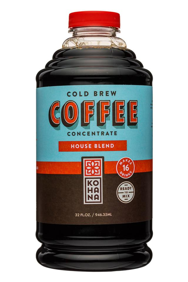 Kohana Coffee: Kohana-32oz-ColdBrewCoffee-Concentrate-HouseBlend-Front