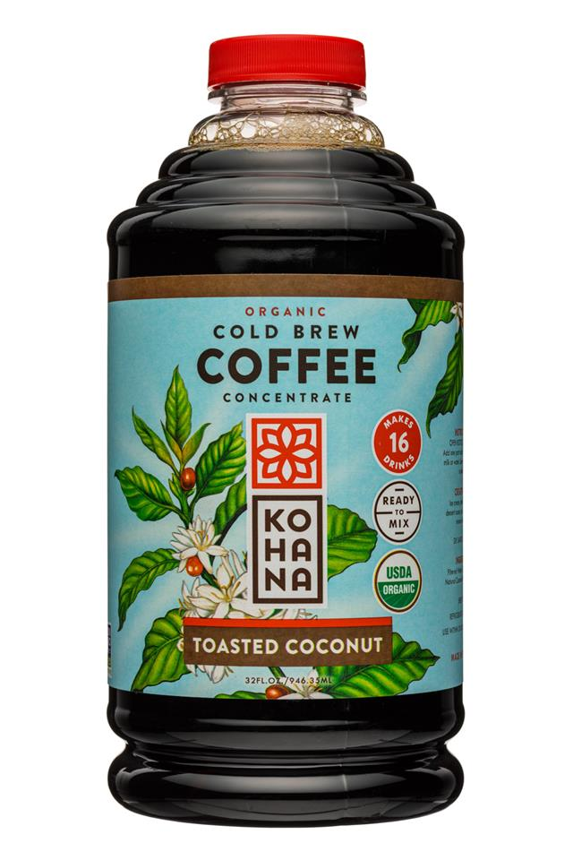 Kohana Coffee: Kohana-32oz-ColdBrewCoffee-OG-Concentrate-ToastedCoconut-Front