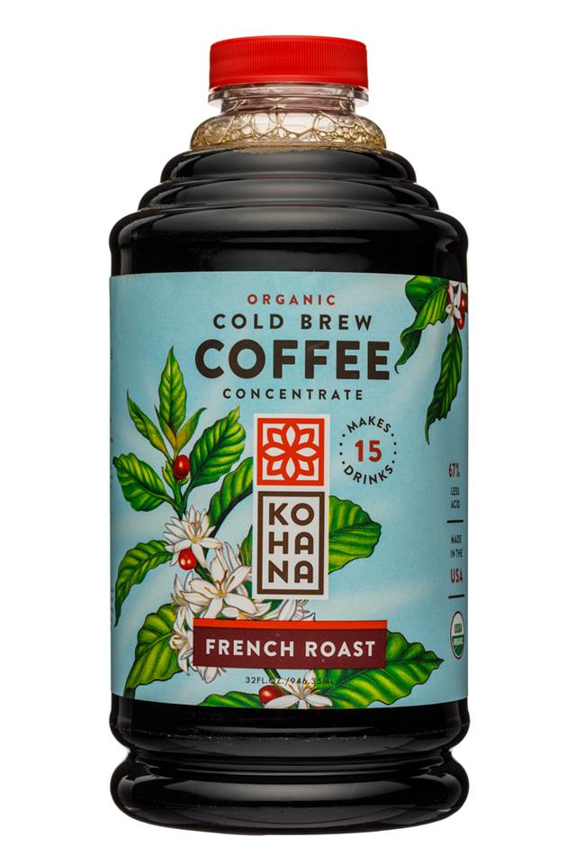 Kohana Coffee: Kohana-32oz-ColdBrewCoffee-OG-Concentrate-FrenchRoast-Front