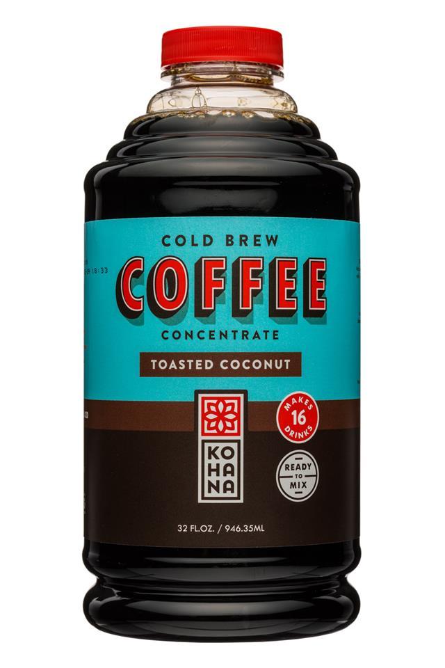 Kohana Coffee: Kohana-32oz-ColdBrewCoffee-Concentrate-ToastedCoconut-Front
