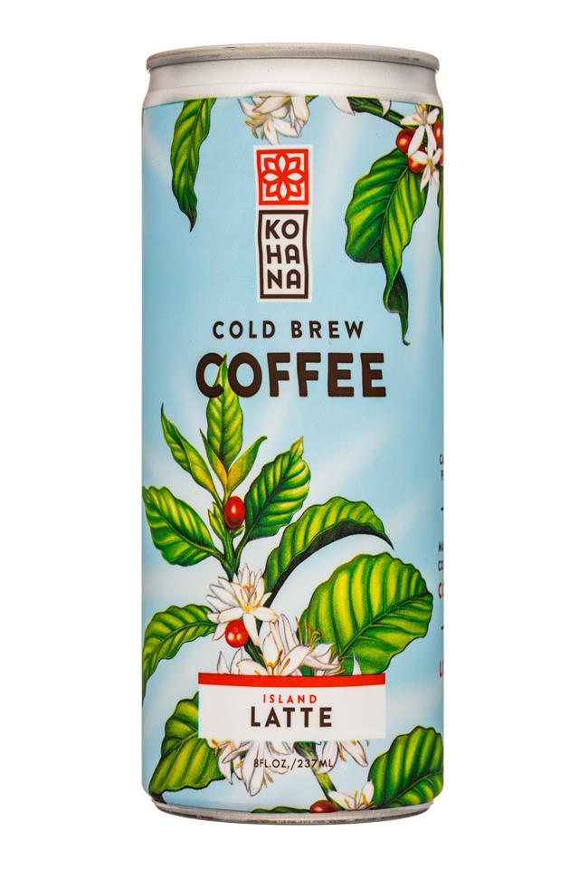 Kohana Coffee: Kohana-8oz-ColdBrewCoffee-IslandLatte-Front