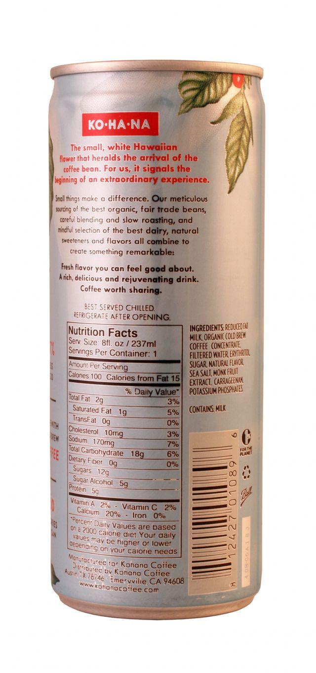 Kohana Cold Brew: KOHANA Caramel Facts