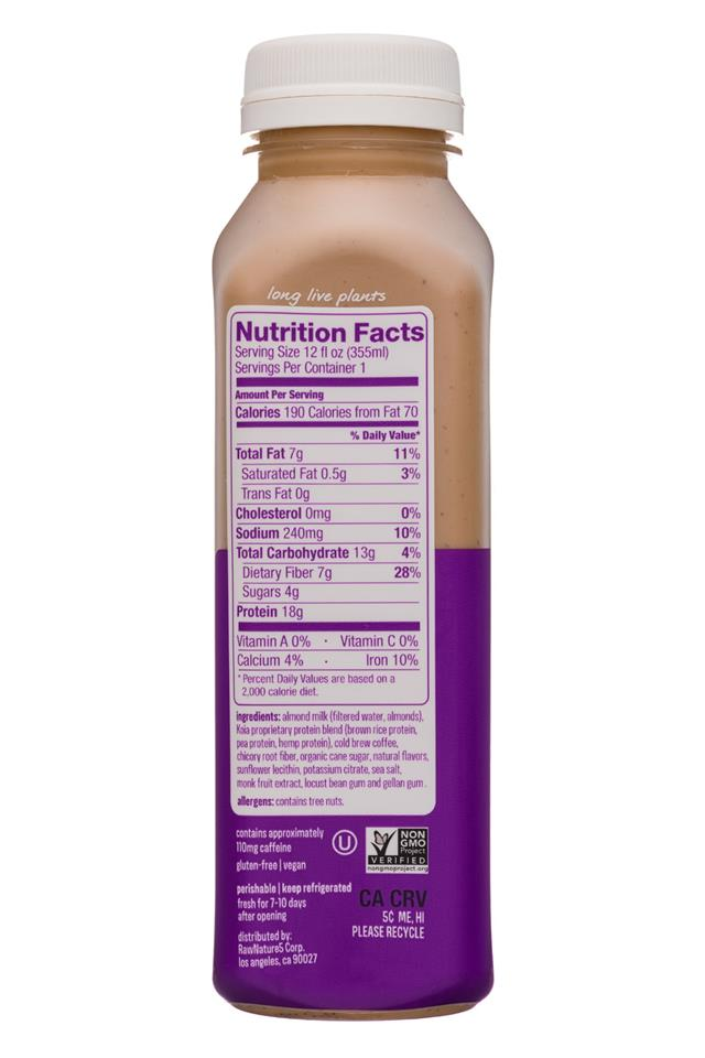 Koia: Koia-12oz-Nutrition-ColdBrew-Facts