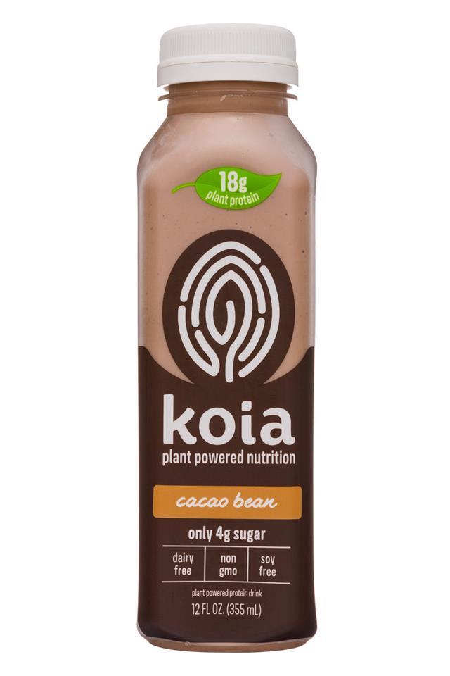 Koia: Koia-12oz-Nutrition-CacaoBean-Front