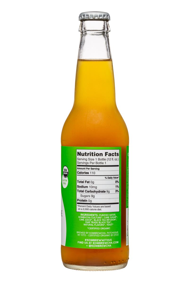 KomBrewCha: Kombrewcha-12oz-HardBuch-LemongrassLime-Facts