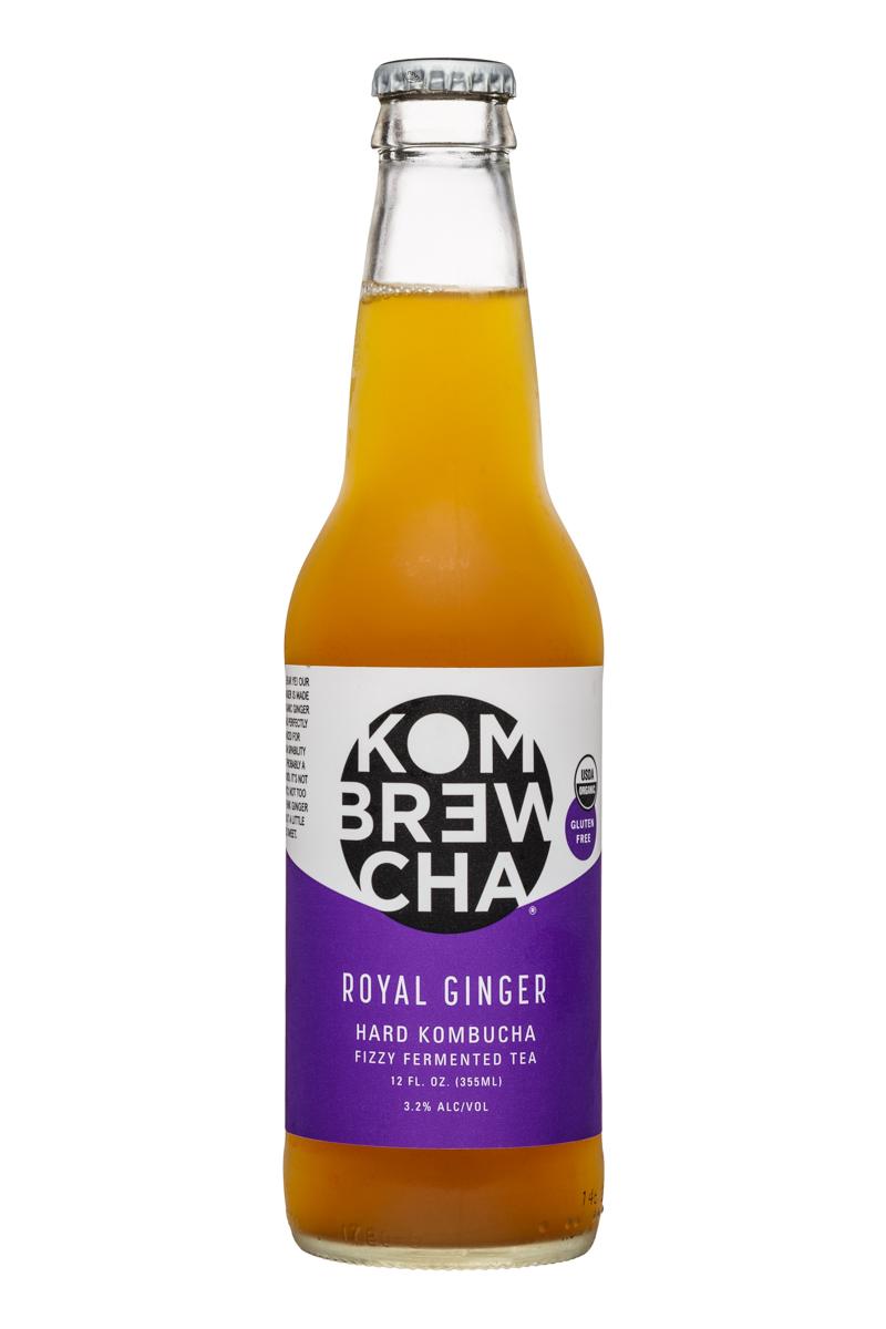 KomBrewCha: Kombrewcha-12oz-HardBuch-RoyalGinger-Front