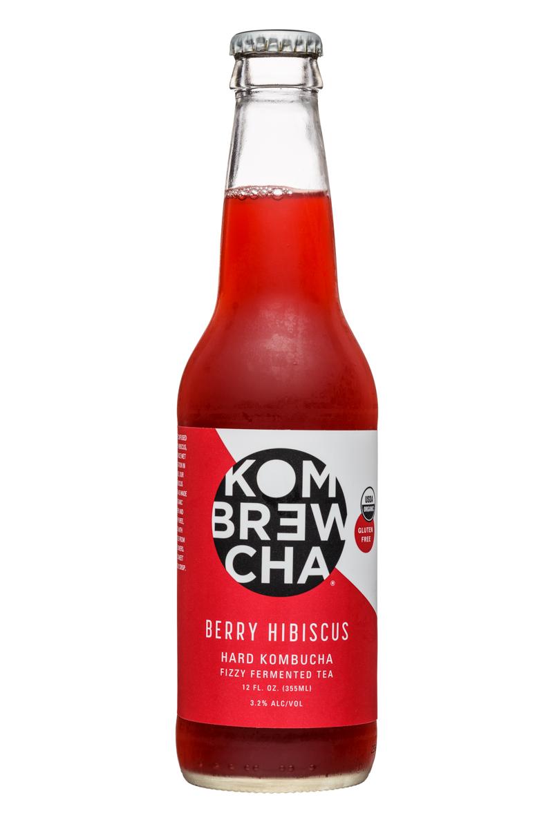KomBrewCha: Kombrewcha-12oz-HardBuch-BerryHibiscus-Front
