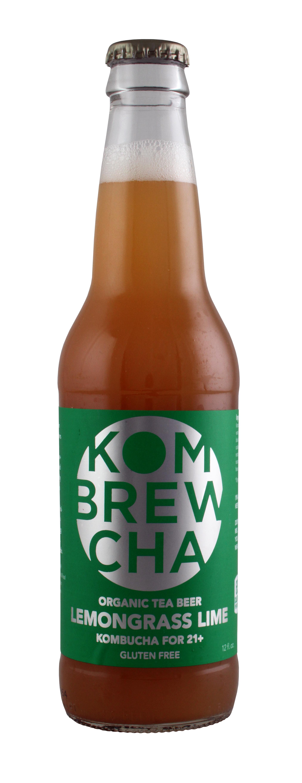 KomBrewCha: KomBreCha LemonGrassLime Front