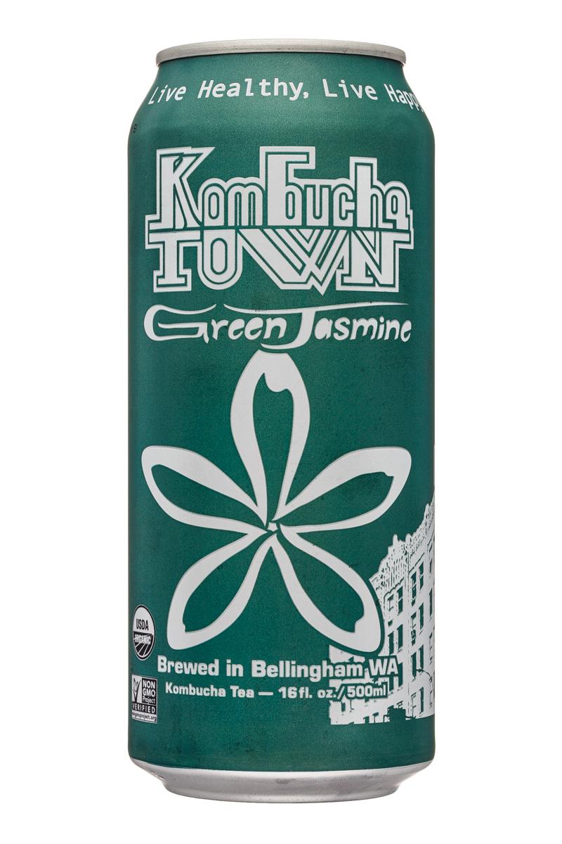 Kombucha Town: KombuchaTown-16oz-GreenJasmine-Front