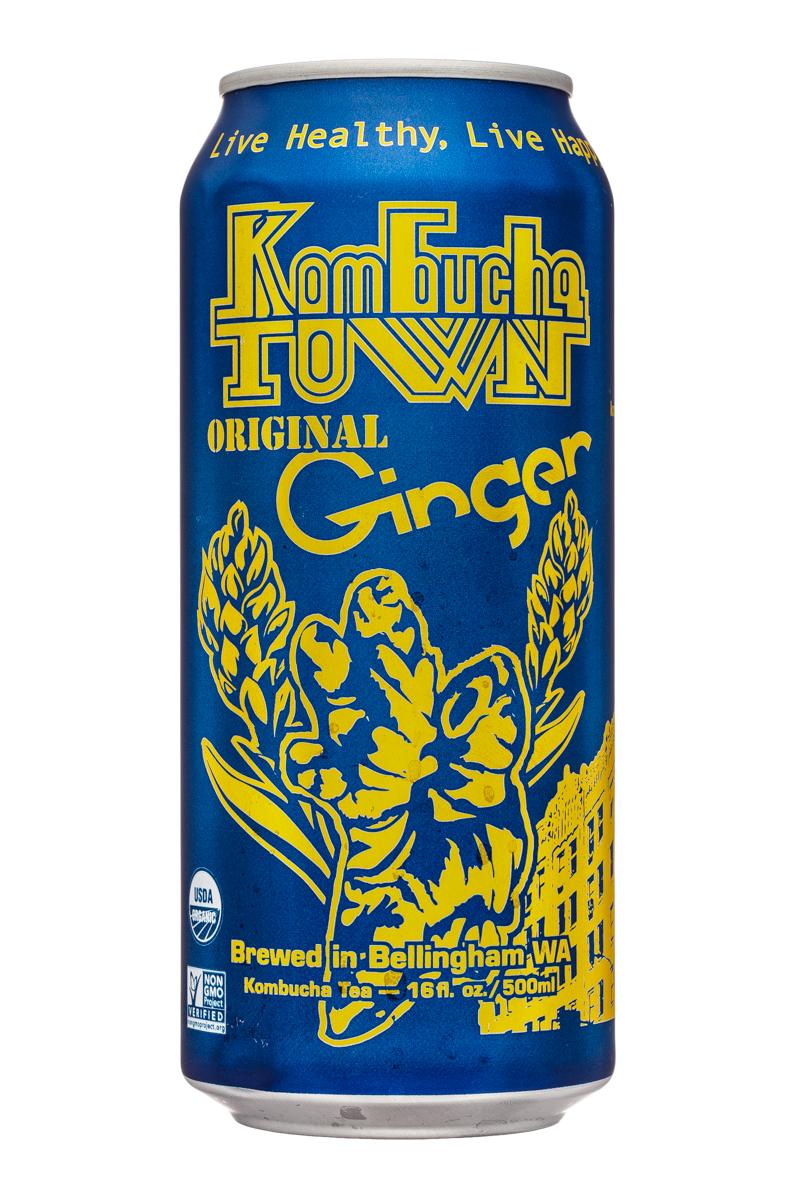 Kombucha Town: KombuchaTown-16oz-OriginalGinger-Front