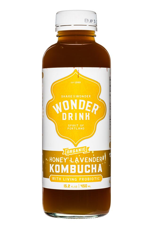 Wonder Drink: WonderDrink-Kombucha-15oz-HoneyLavender-Front