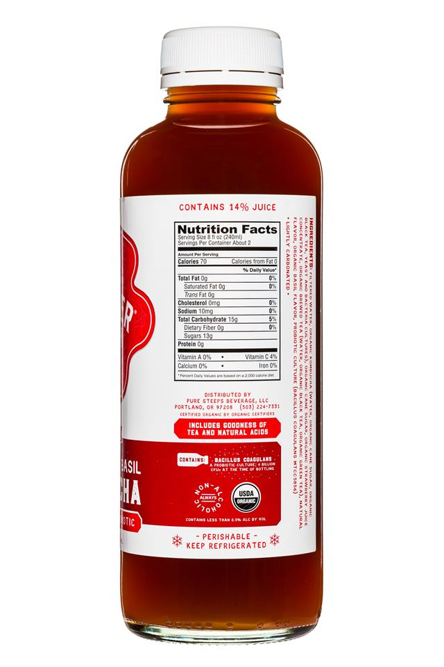 Wonder Drink: WonderDrink-Kombucha-15oz-StrawberryBasil-Facts
